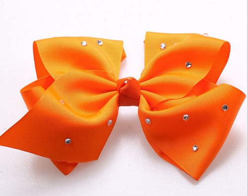 Jojo Siwa Fresh Orange Diamanté Hair Bow - 20cm