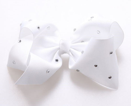 Jojo Siwa Pure White Diamanté Hair Bow - 20cm