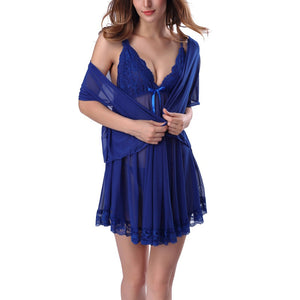 Women's Sexy Babydoll Lingerie Set Lace Nightgowns Nightwear Underwear my luv family