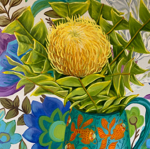 Banksia baxteri and the Goldfish - ART TO ART GALLERY $750 AUD