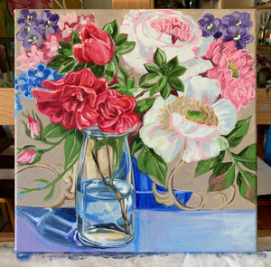 Sanderson Bouquet and the Azalea Bottle - ART TO ART GALLERY $520 AUD