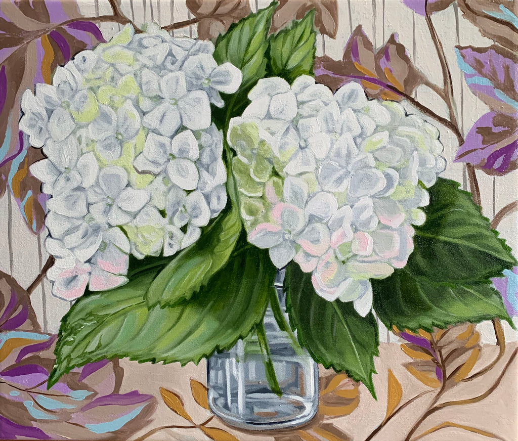 Hydrangea and Stripes