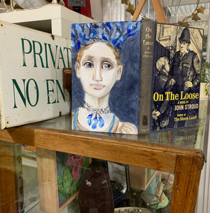 The Blue Lady On the Loose - Original Oil Book Painting