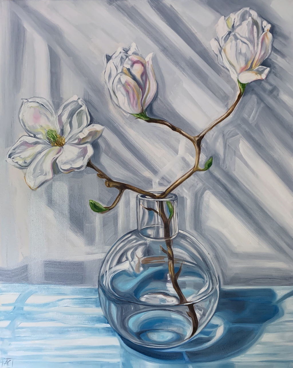 Magnolia Reflections in Blue #1