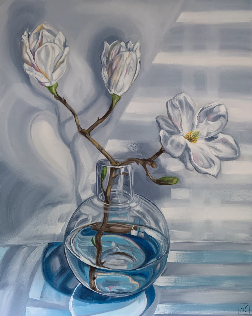 Magnolia Reflections in Blue #2