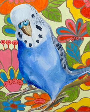 Retro Pop and the Blue Budgie