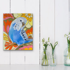 Retro Pop and the Light Blue Budgie
