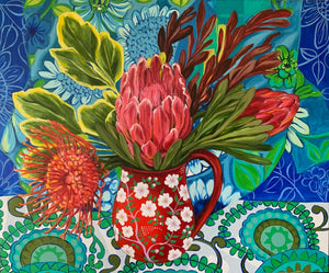 Retro Blue and the Pullalating Proteas