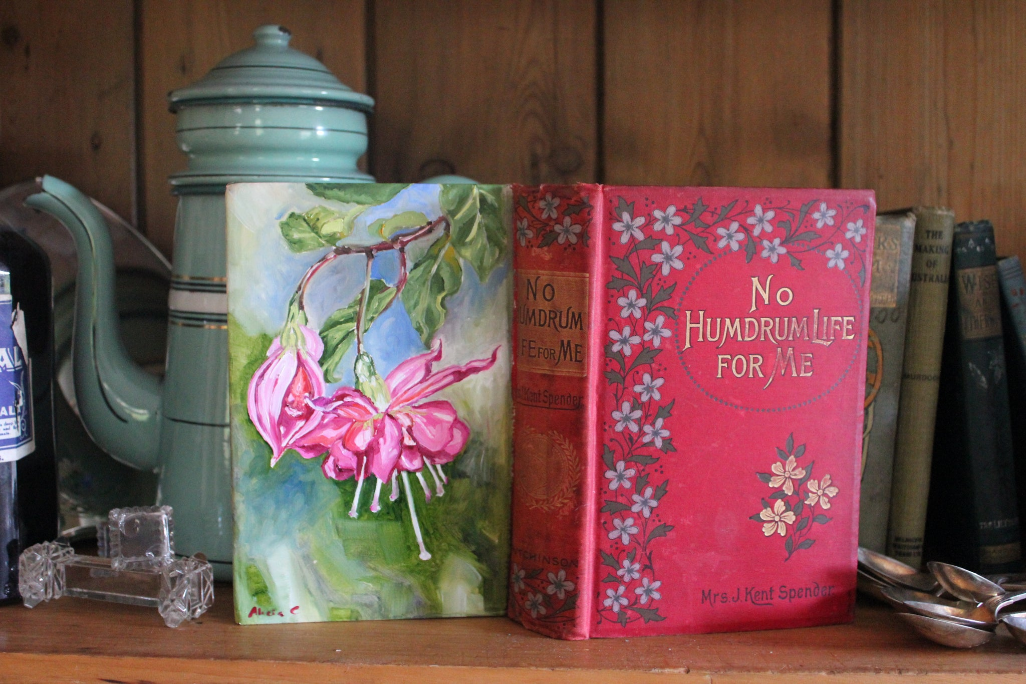 Commission - Oil Book Painting Life and the Fuchsia