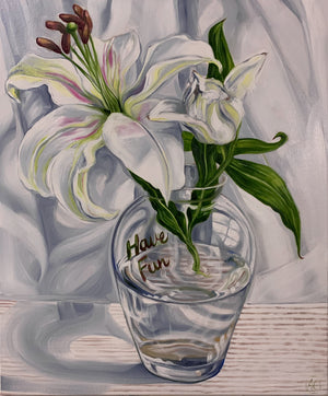 Flowers and Words of the Day - White Lillium