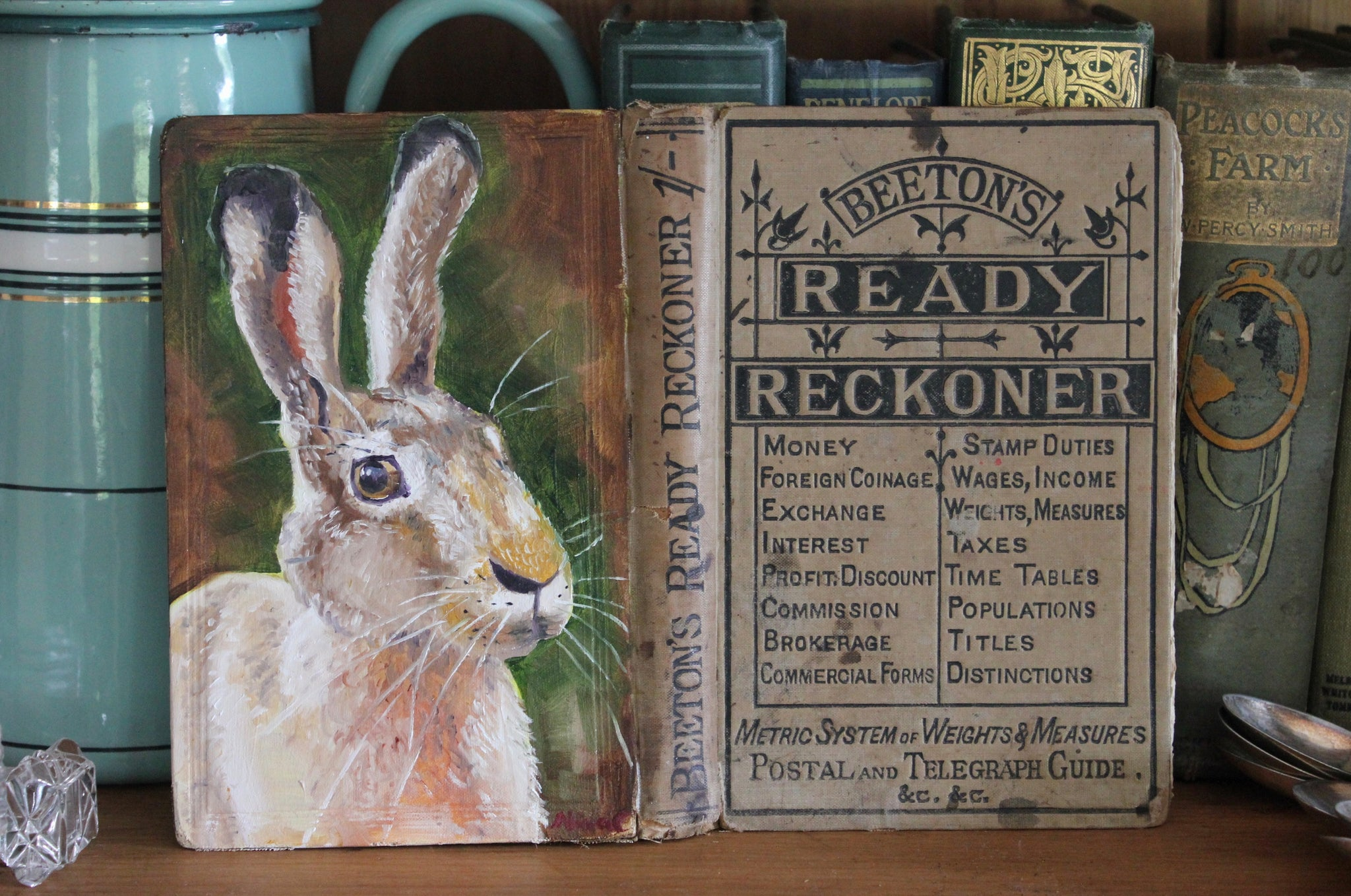 The Hare and Mrs Beeton - Original oil painting