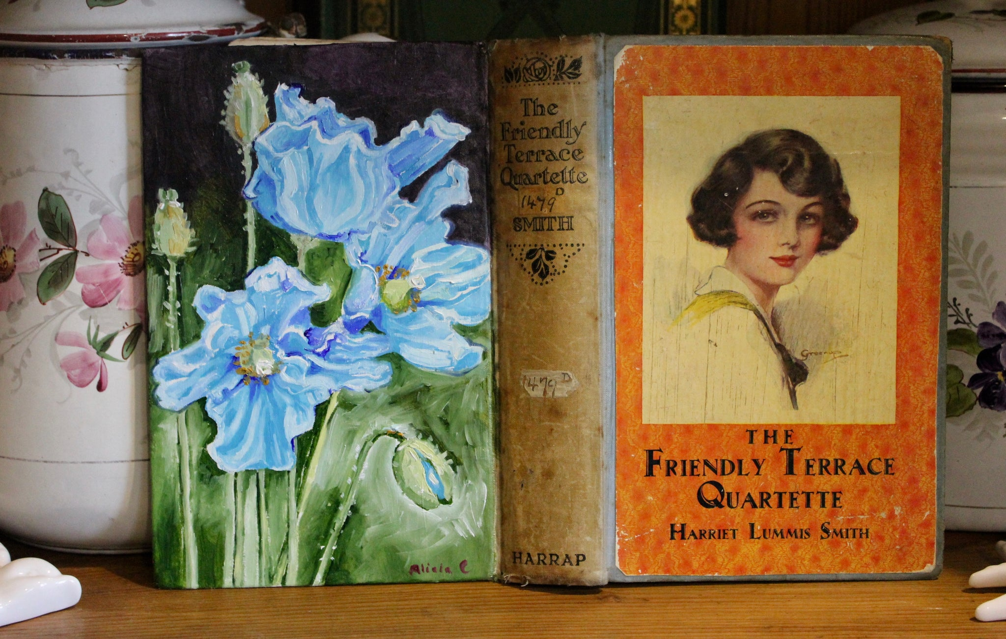YOUR SPECIAL ORDER COMMISSION - Original Oil Book Painting - Antique & Vintage Books