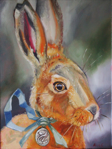 The Hare and the Silver Locket - Original Oil Painting