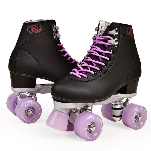 Artificial Leather Roller Skates Double