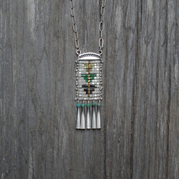 Sacred Peak Necklace with Green Turquoise