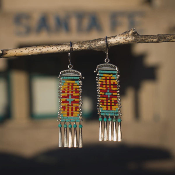 Zia Earrings with Turquoise