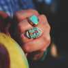 Sacred Peak La Reina Ring in Turquoise