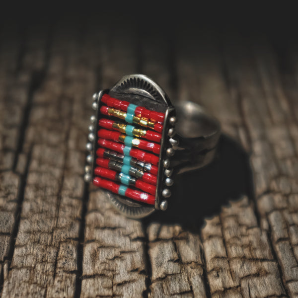 Sacred Peak La Reina Ring in Red