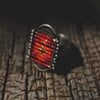La Reina Ring with Rojo Cross
