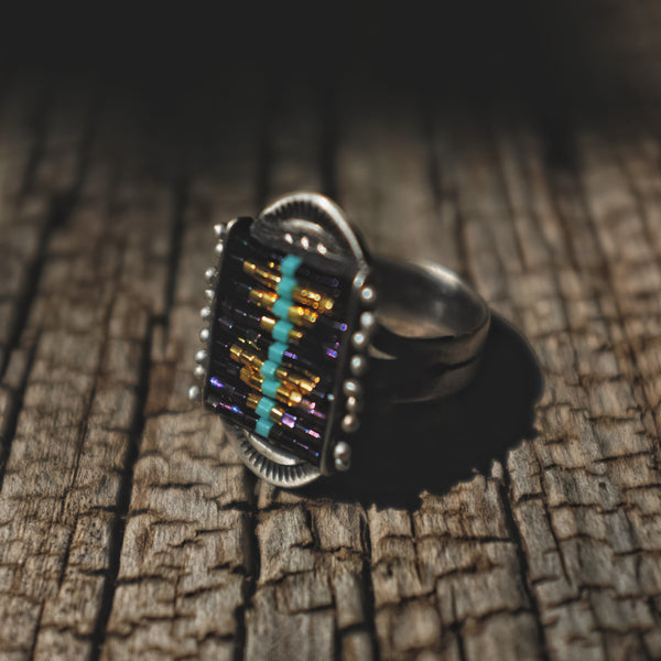 Sacred Peak La Reina Ring in Irodecent Purple