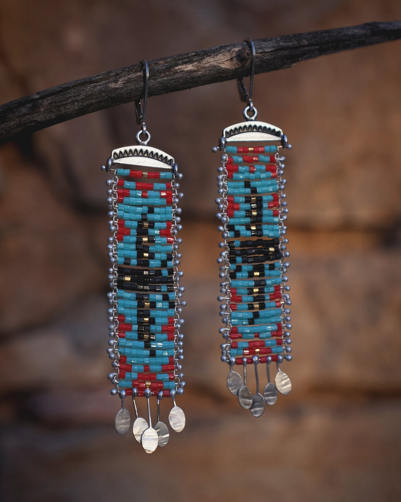 Beaded Thunderbird Earrings