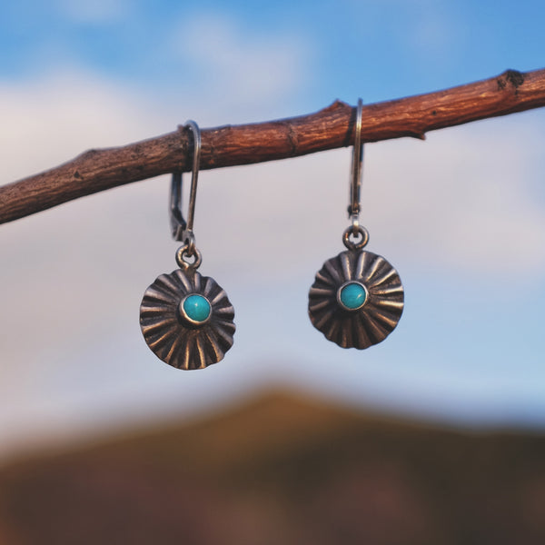 Estrella Earrings with Sleeping Beauty Turquoise