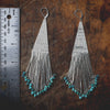 Bright Side Liquid Silver Earrings with Turquoise (large)