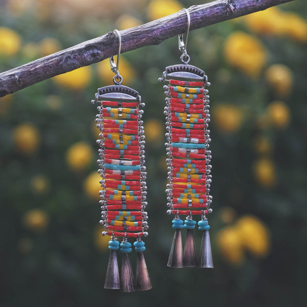 Cascabel Earrings with Campitos Turquoise