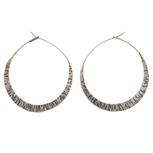 Large New Moon Hoops