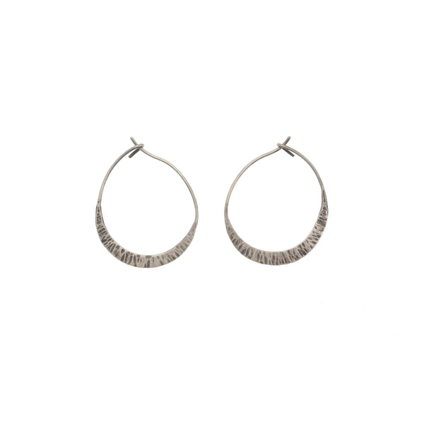 Small New Moon Hoops