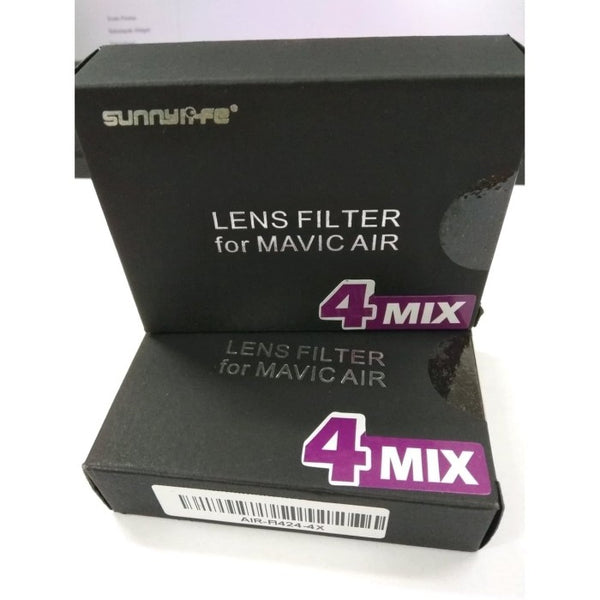 Sunnylife Mavic Air filter kit (ND4, ND8, CPL, MCUV)