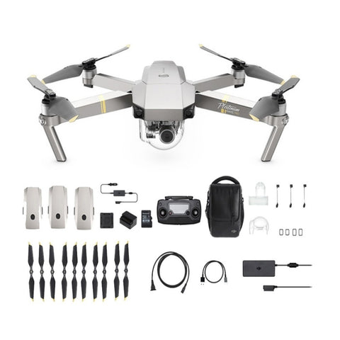 DJI Mavic Pro Platinum Fly More Combo – Refurbished