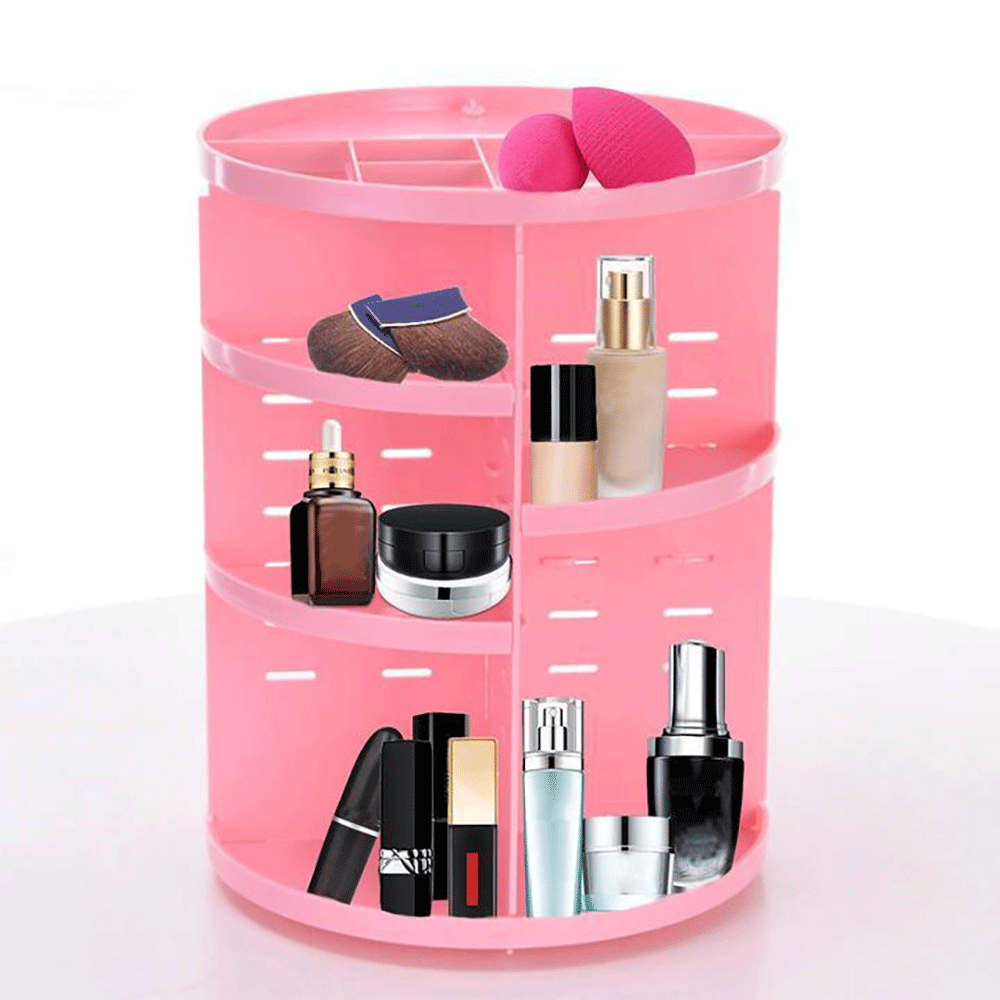 360 Degree Rotatable Cosmetic Organizer Multi-functional Storage Box