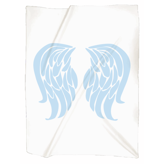 Angel wing jersey blankets