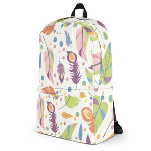 Feather Backpack - Vaalea sulkareppu