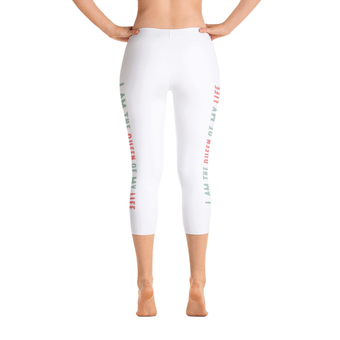 I am the Queen of my life Capri Leggings - Olen elämäni kuningatar