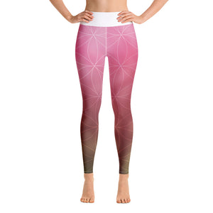 Om Yoga Leggings rosa - Om leggingsit roosa