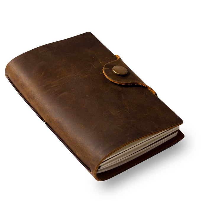 Genuine  Leather Note / Sketchbook - Antiikkinahkainen muistikirja