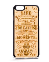 Meaning of Life Natural Wood Phone Case
