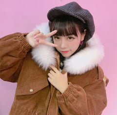 Large Fur Lined Hooded Jacket