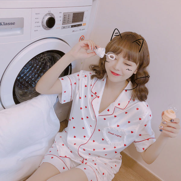 """Good night"" Heart Pyjama Set"