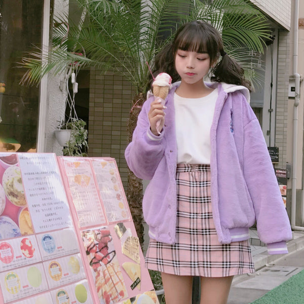 Fluffy Sailor Baseball Jacket