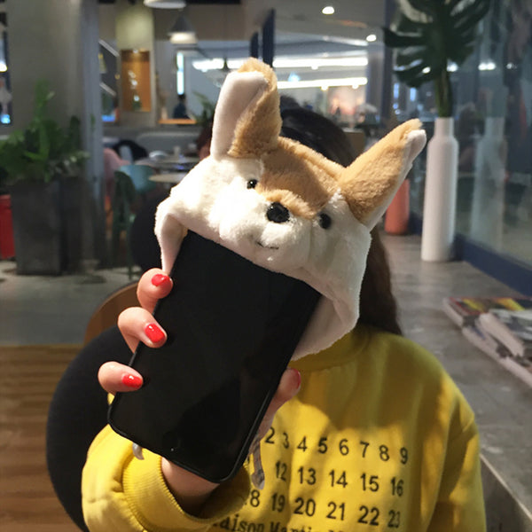 (SAMSUNG) Animal Hooded Phone Case