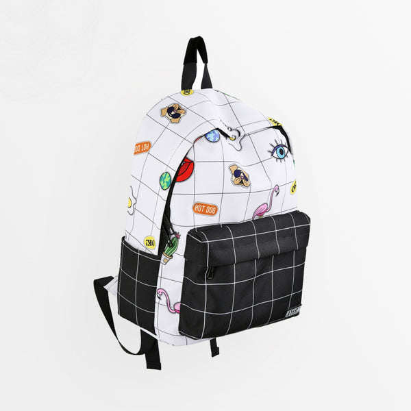 Aesthetic Grid Backpack