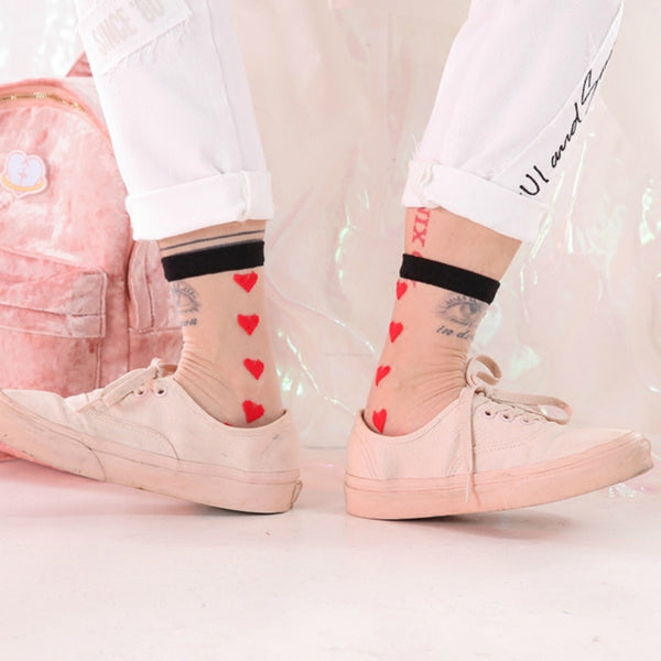 Heart Transparent Socks