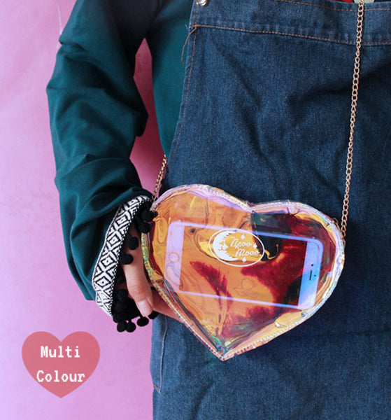 Transparent Heart Satchel