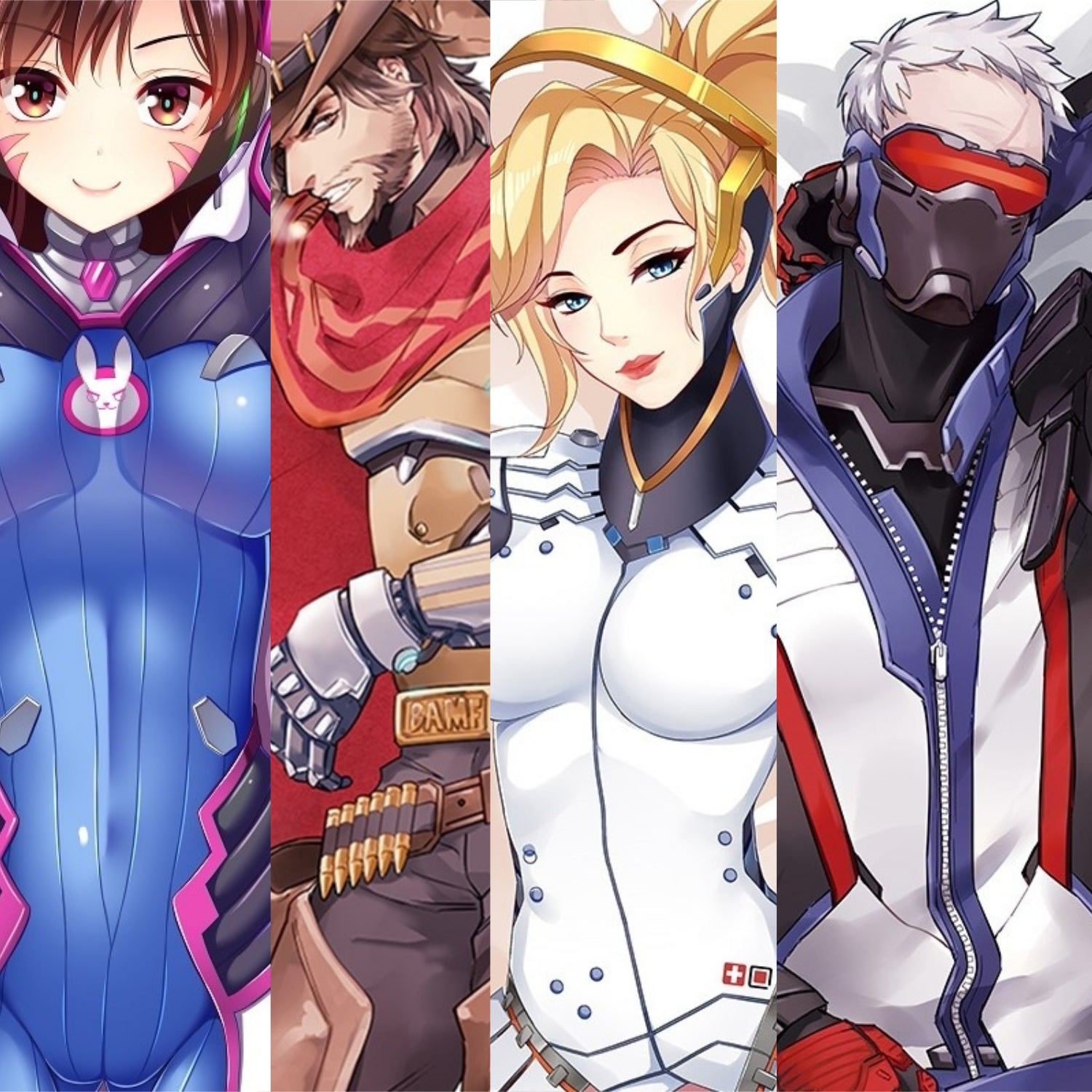 Overwatch Body Pillow Cases