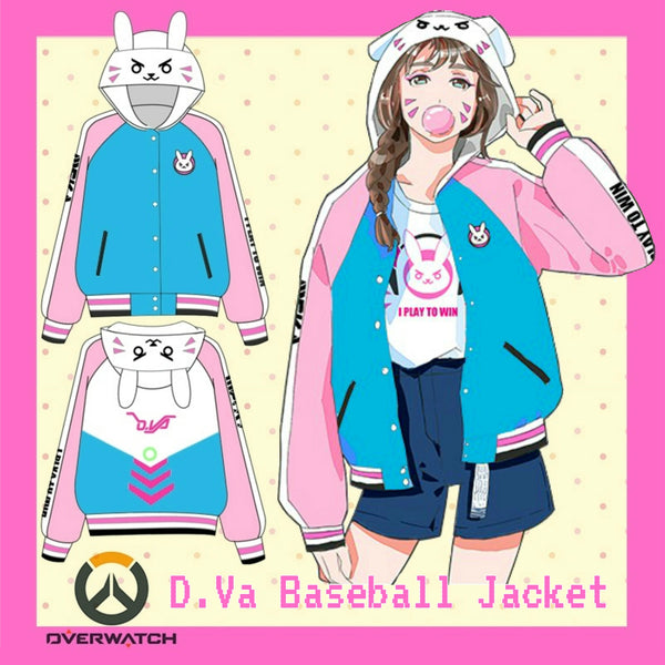 D.Va Overwatch Baseball Jacket