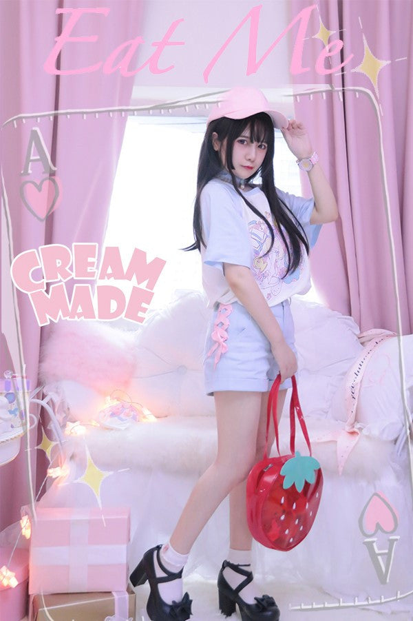 [CREAM MADE] Eat Me Jeans/Shorts