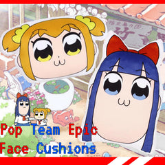 Pop Team Epic Face Cushions